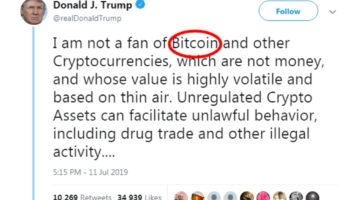 Donald Trump Tweet About Bitcoin