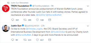 Buffet lunch cancelled