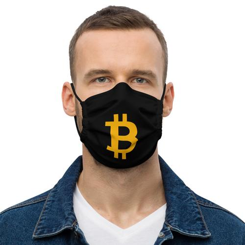 Bitcoin Facemask Black
