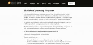 Bitcoin Sponsorship Program