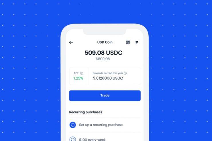 Coinbase UI usdc