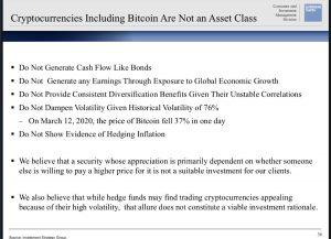Goldman Sachs on Bitcoin