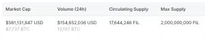 FIL Supply CoinMarketCap