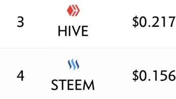 Hive VS STEEM