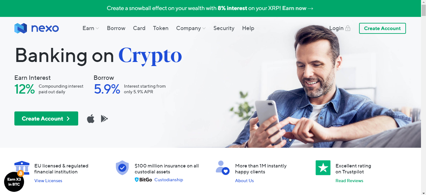 Nexo Bitcoin Investment Site