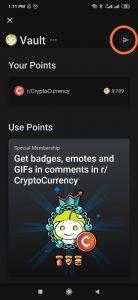 Send Reddit tokens