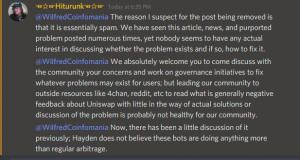 Uniswap ETH drain discord