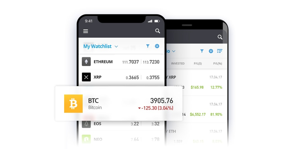 eToro Bitcoin Investment App