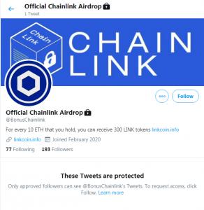 BonusChainlink scam